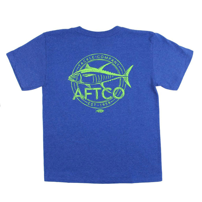 Aftco Youth Wammo S/S Tee- Royal Heather