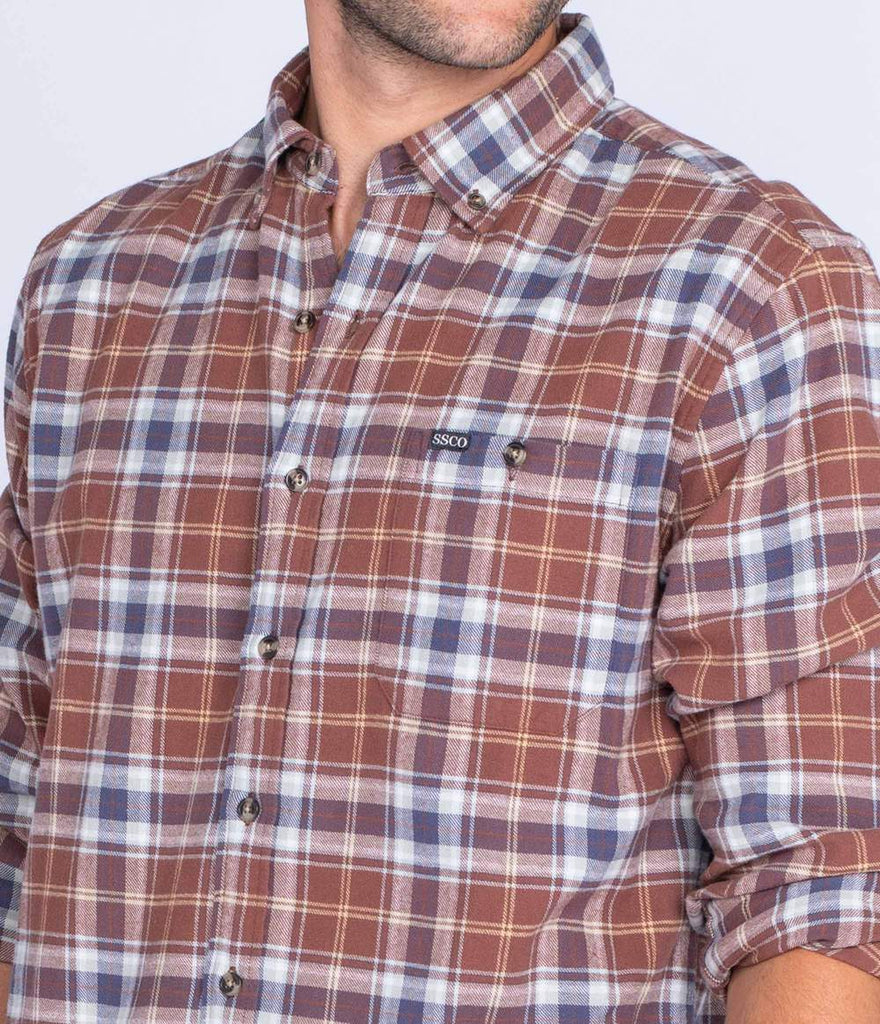 Southern Shirt Company Nashville Flannel- Burnt Copper- NASHVILLE FLANNEL L/S-BUR