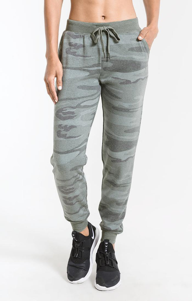 Z Supply Loft Fleece Camo Jogger Pant- ZP183448