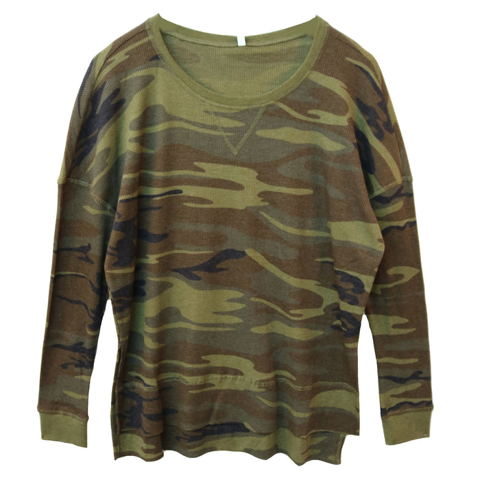 Z Supply Emerson Camo Thermal Tee- Green- ZT183436-CAG