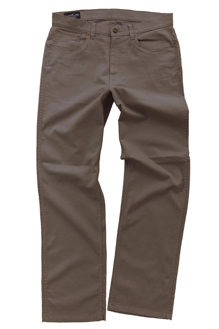 Coastal Cotton 5PKT Canvas Pant- Cocoa Brown