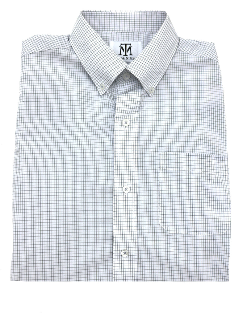 Taylor & Mick Performance Check Button Down