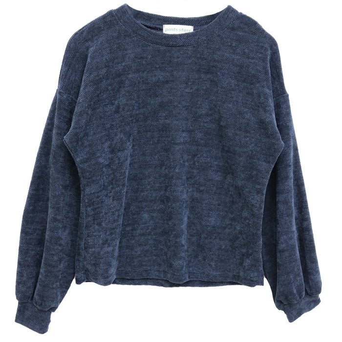 Thermal Chenille Sweater- Charcoal- K5629-CHARC