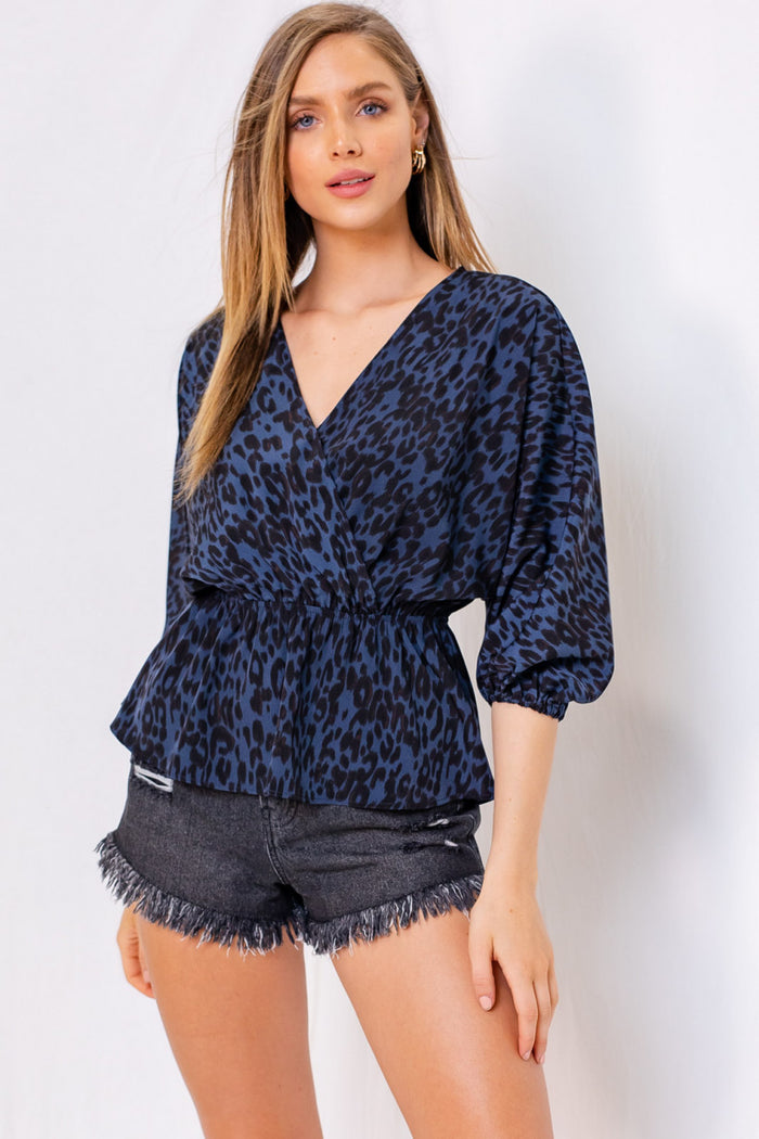 Midnight Cheetah Top