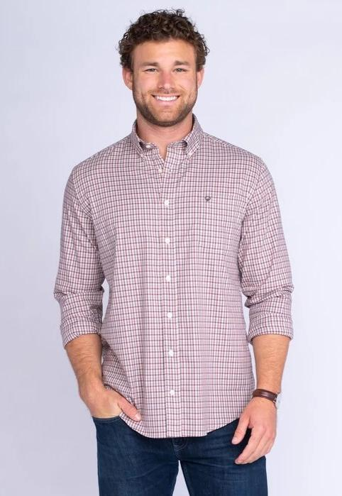 Southern Shirt Company Cumberland Check- Chestnut- CUMBERLAND CHECK L/S-CHE