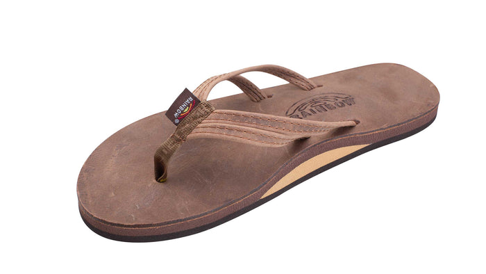 Rainbow Luxury Leather The Sandpiper Double Thin Strap Sandal