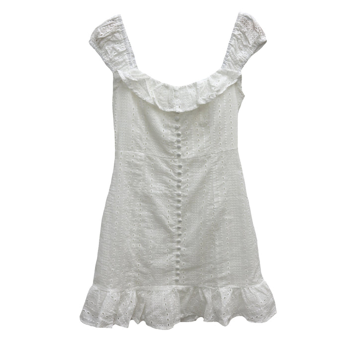 Cute In Cotton Eyelet Dress- CD-9879