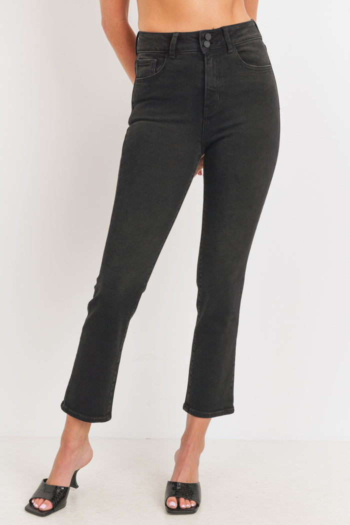 Just Black Denim Double Button Straight