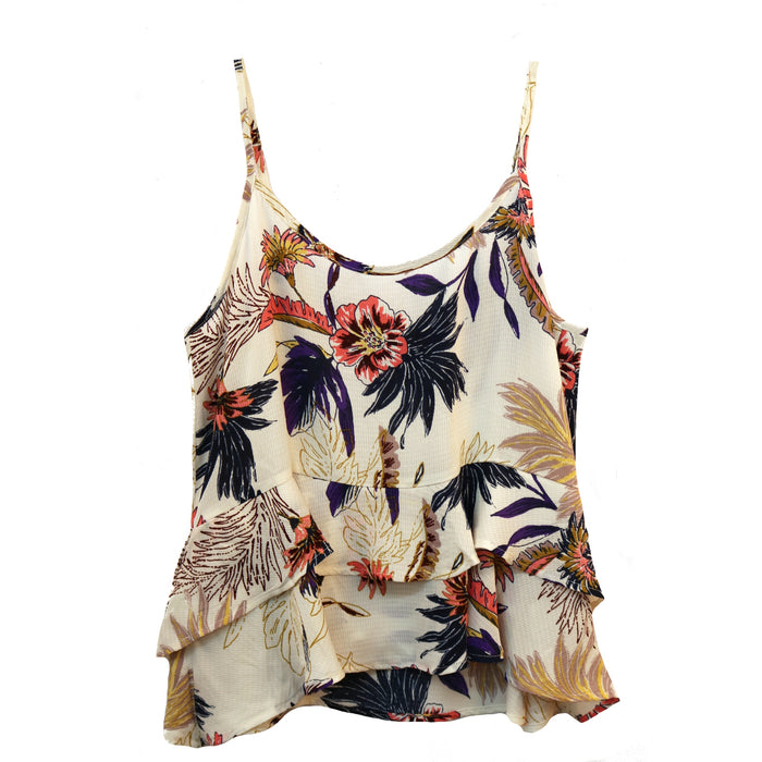 Floral Frenzy Tank- Clay/ Tropical