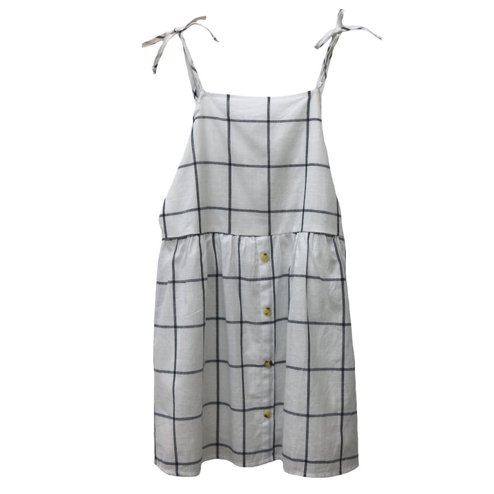 Girl's Summer Plaid Dress- KD1448-IVY