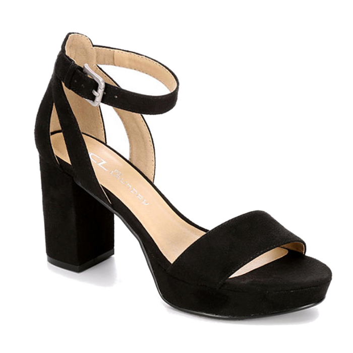 Chinese Laundry Go On Block Heel- Black