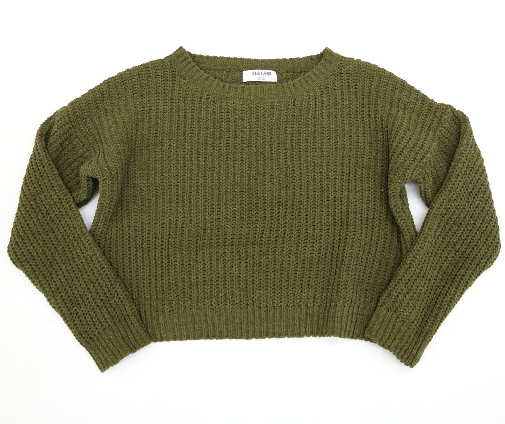 Cropped Chenille Sweater- DZ19H415