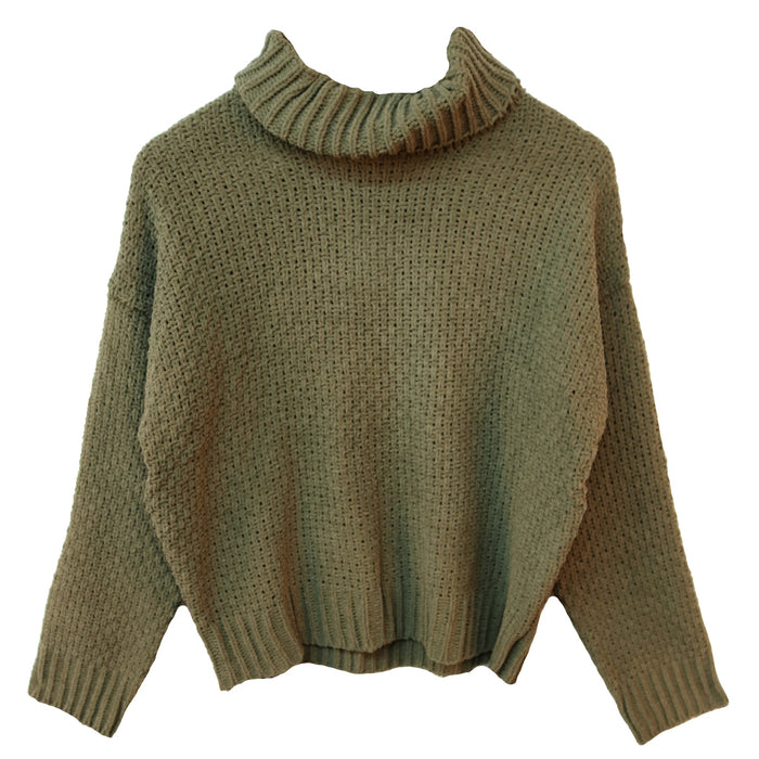 Rag Poets Lucia Sweater- Dusty Green- RW184625-DYG