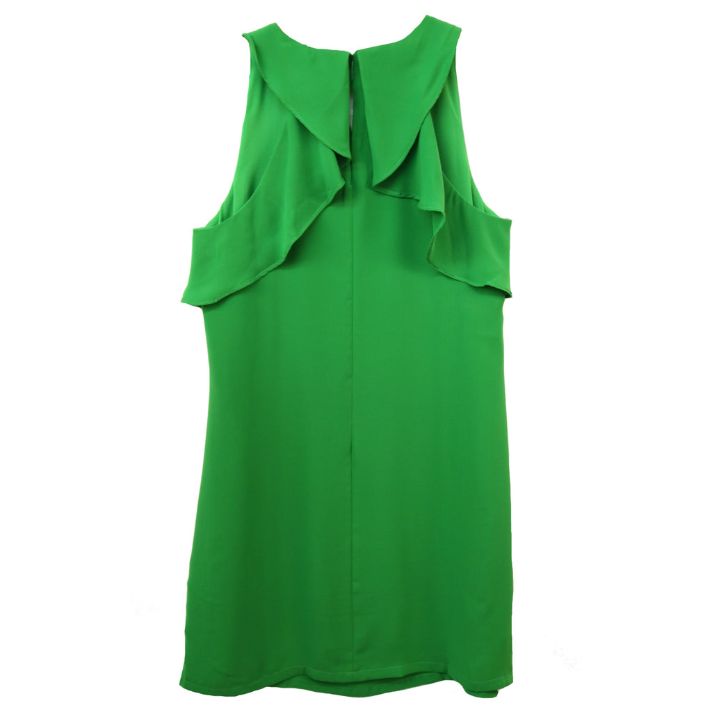 Ruffle Back Dress- Lime