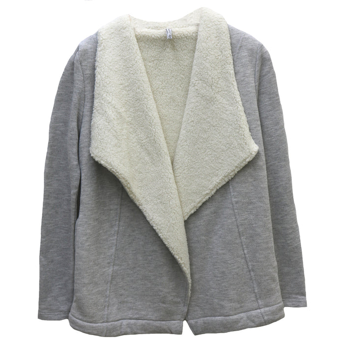 Z Supply Sherpa Sweater Cardi- Heather Grey- ZJ174181-HGY