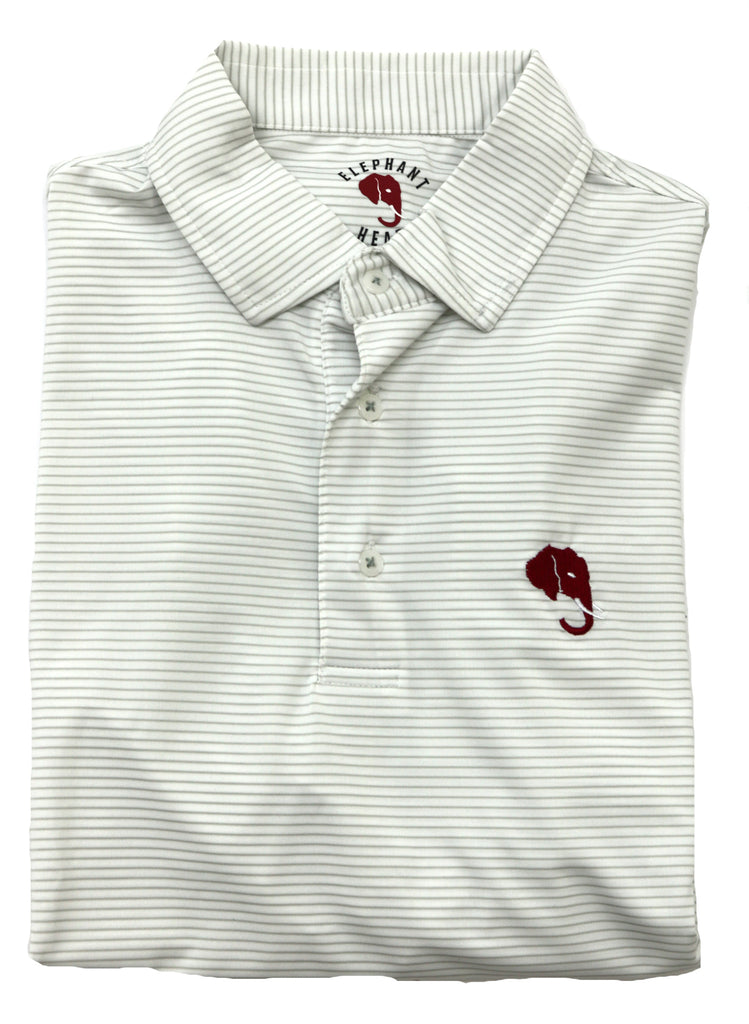 Elephant Head Striped Polo