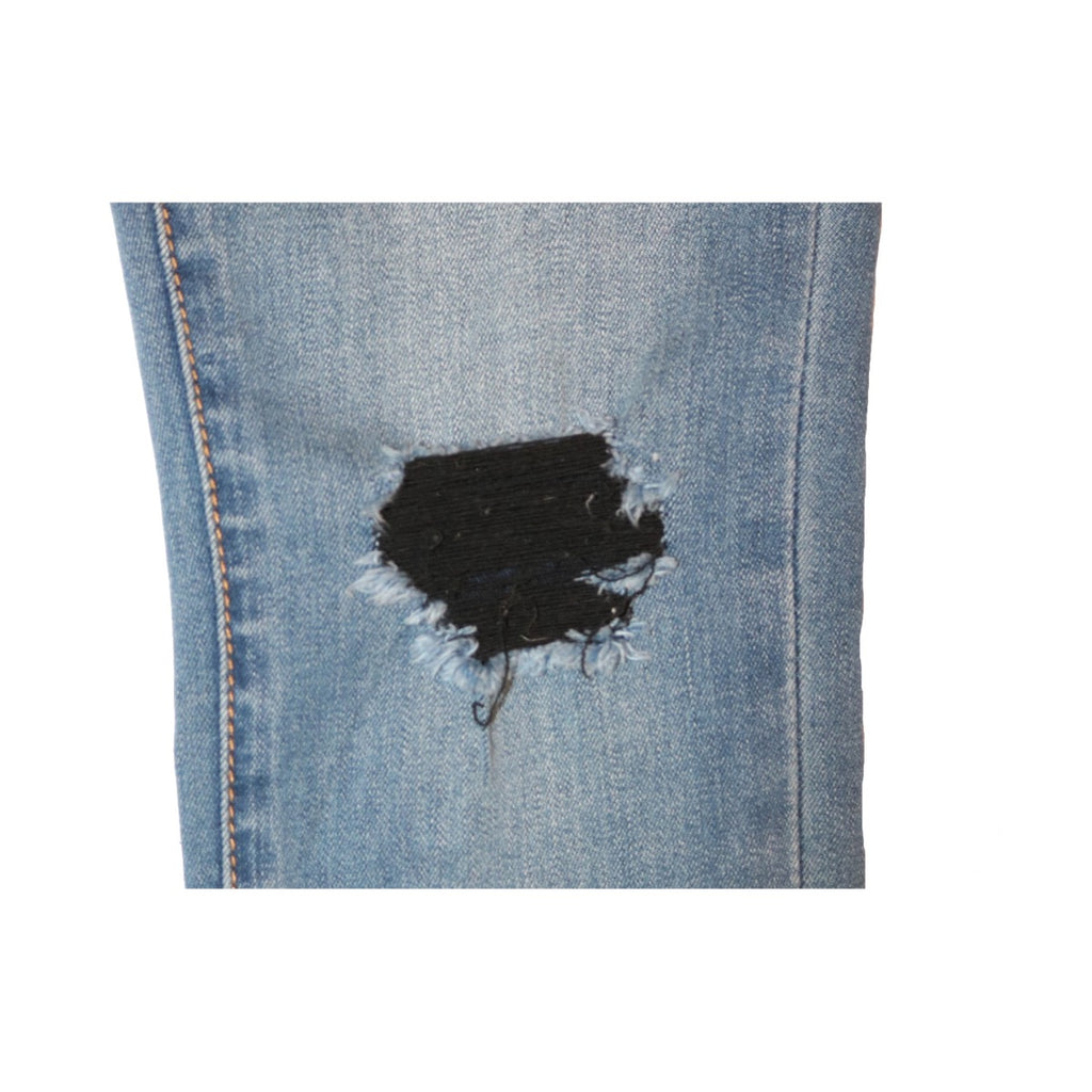 Distressed Sarah Skinny with Released Hem- Mead