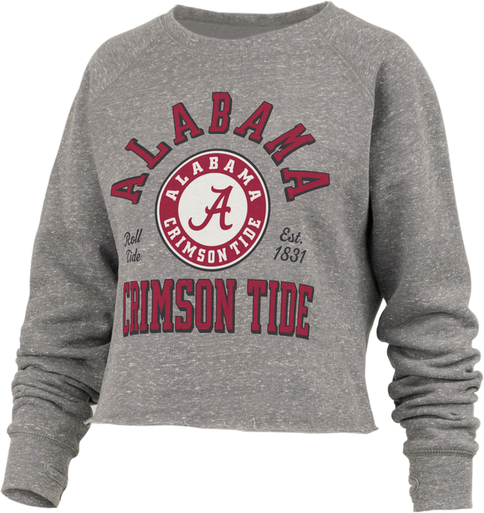 Pressbox Alabama Bishop Fleece Crop Pullover
