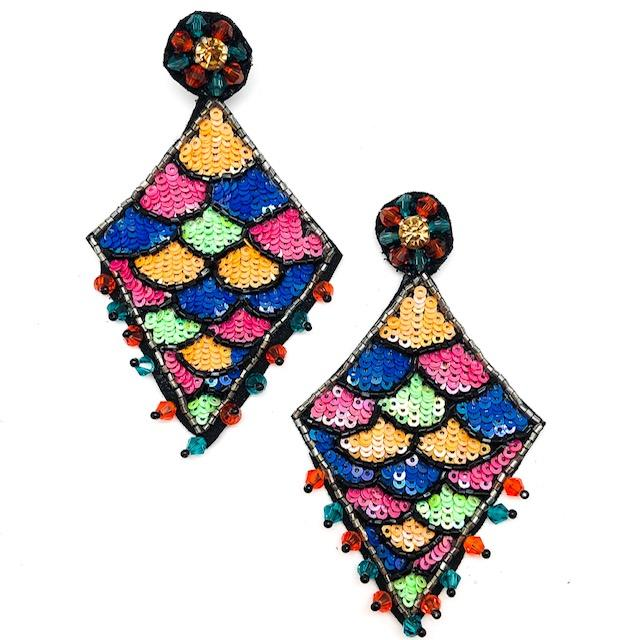 Party Drop Beaded Earrings