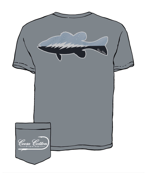 Coosa Cotton Contour Spotted Bass Tee