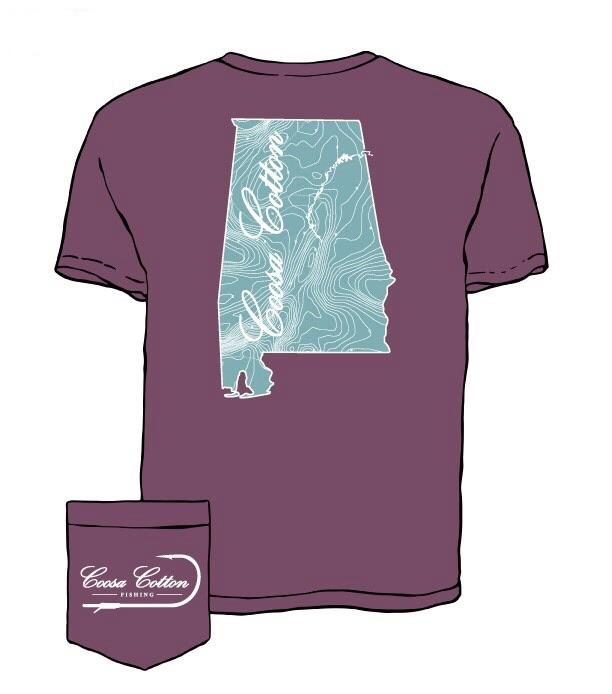 Coosa State Contour Lines - Berry