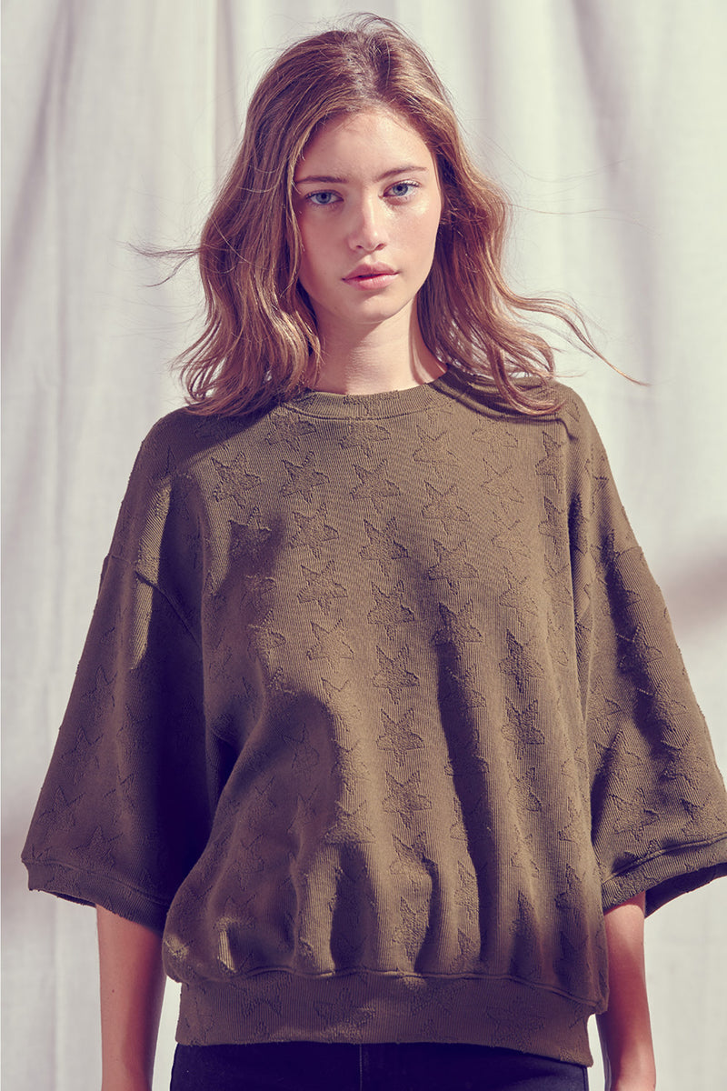 Stars Above Oversized Pullover