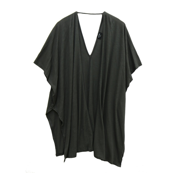 Cotton Slub Oversized Kimono- Charcoal- BP140-CHA