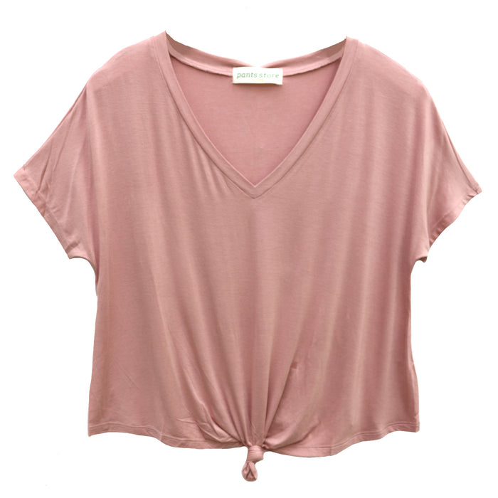 Back To Basics Knotted Tee- Desert Rose- DZ19F261-DES