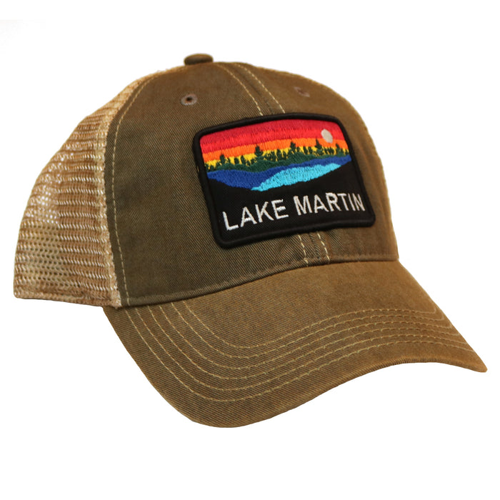 Lake Martin Trucker Hat- Grey