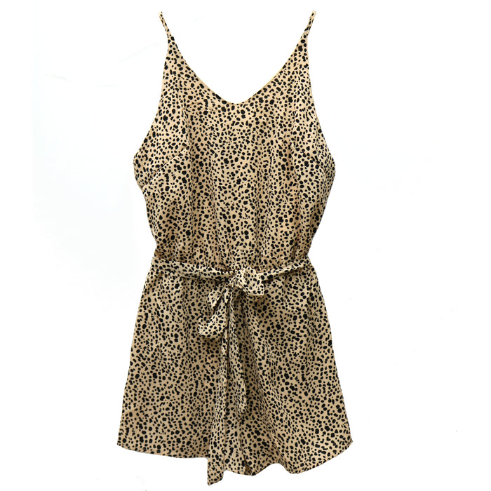 Printed On My Heart Sleeveless Romper- SL9808-LT.TAU