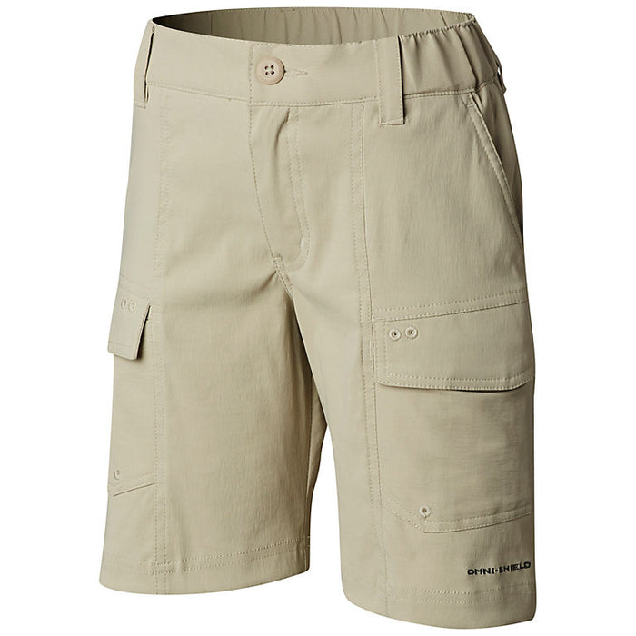 Columbia Youth Low Drag Short- Fossil 160- LOW DRAG SHORT YOUTH-FOS