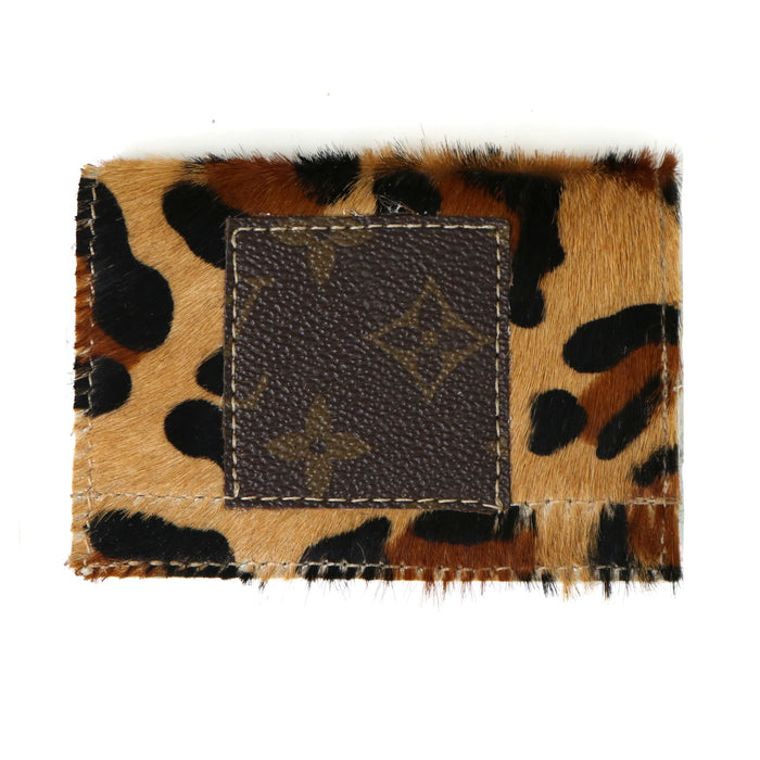 Authentic Repurposed Louis Vuitton Card Holder- Cheetah