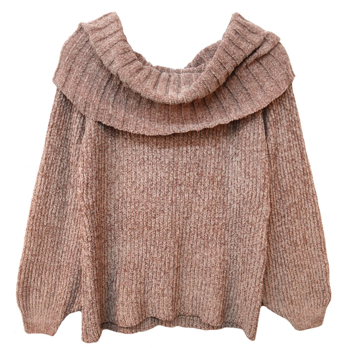Autumn Feels Sweater- Lavender- FL19E033-LAV