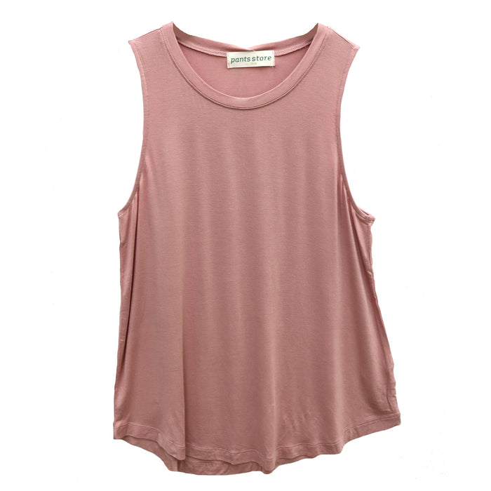 Back To Basics Crew Tank- Desert Rose- DZ19F264-DES