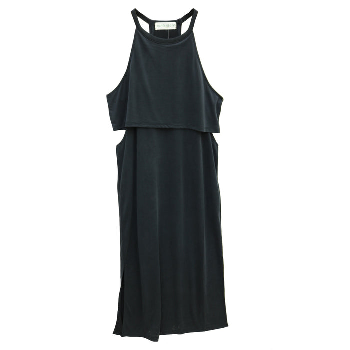 Back and Better Midi Dress- Black - DZ19A872-BLK