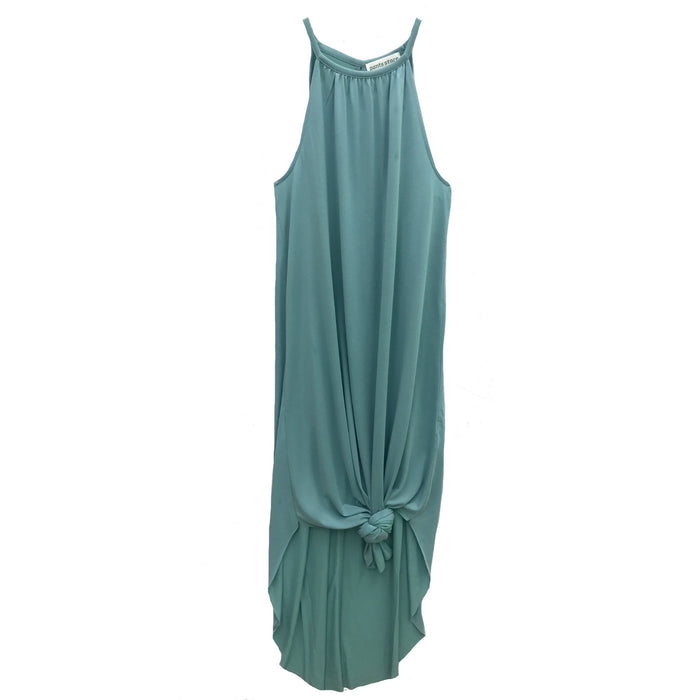 Meet Me In The Midi Dress- Blue Green- DZ19F131-BLU