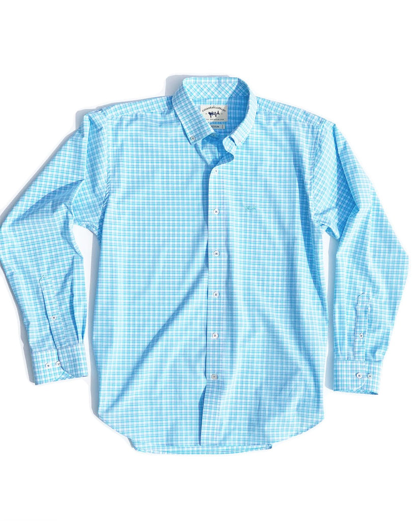 Coastal Cotton Long Sleeve Performance Sport Shirt