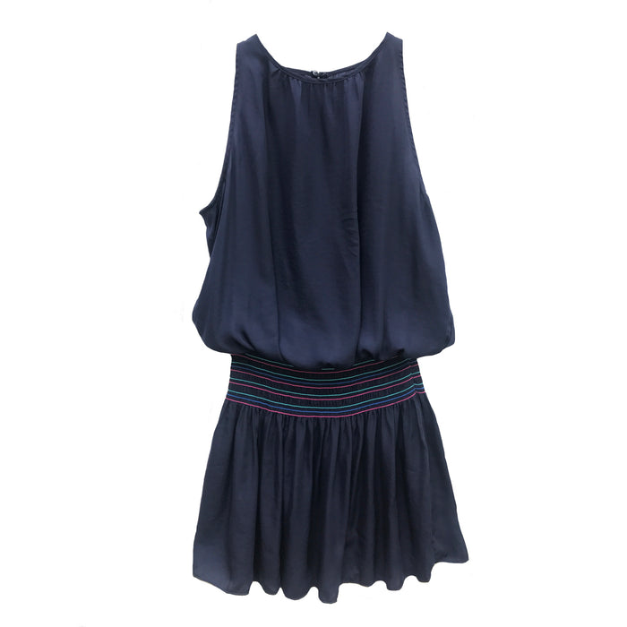 Smocked Drop Waist Dress- Navy- Y16661-NVY