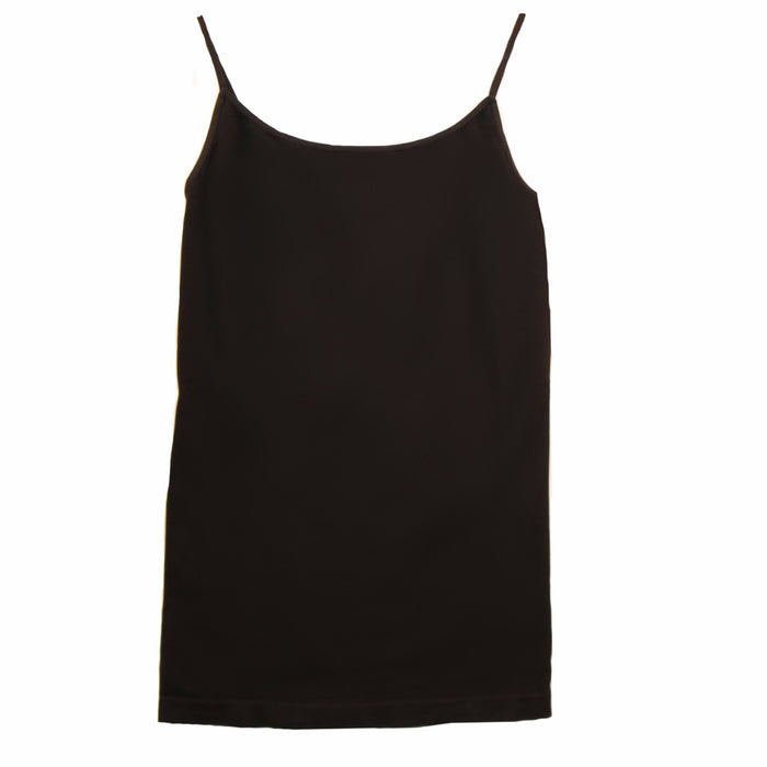 Medium Length Layering Tank- Black