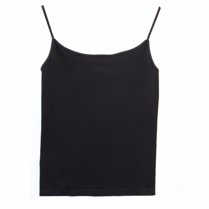 Short Length Layering Tank- Black