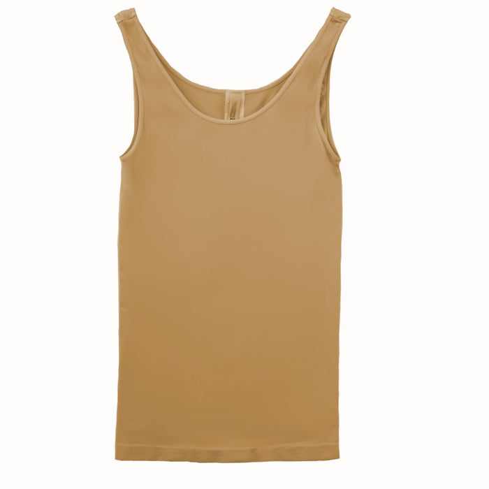 Wide Strap Layering Tank- Nude