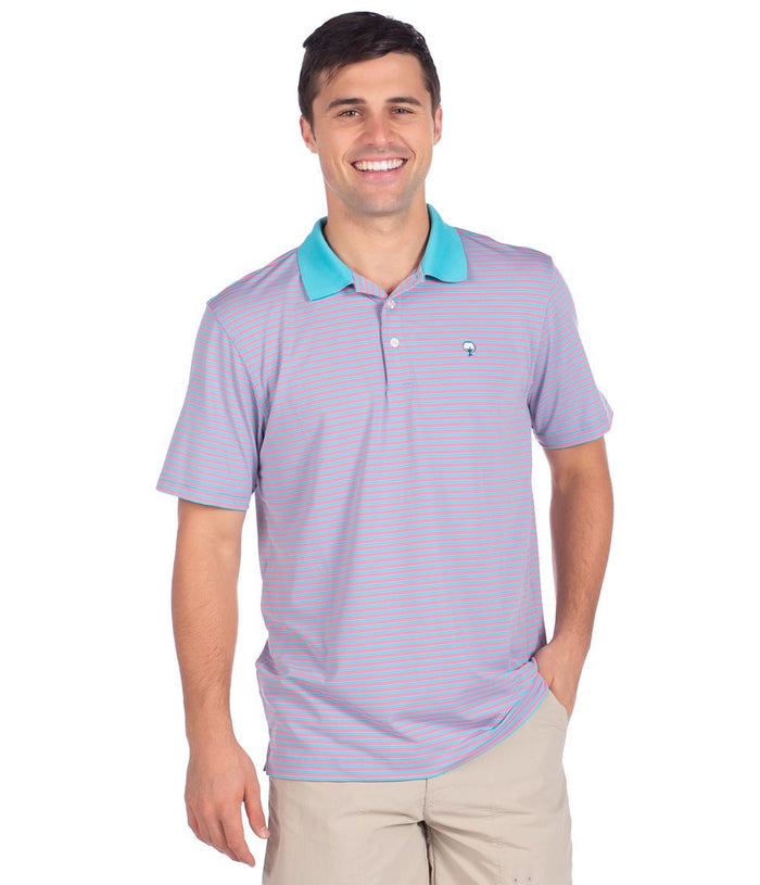 The Southern Shirt Company Hilton Stripe Polo- Old Miami