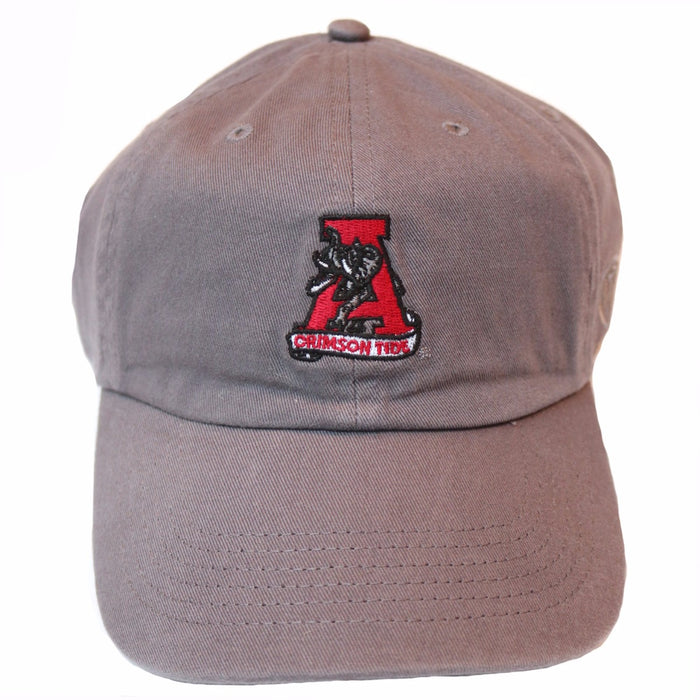 Alabama Hat with Retro Logo - Grey