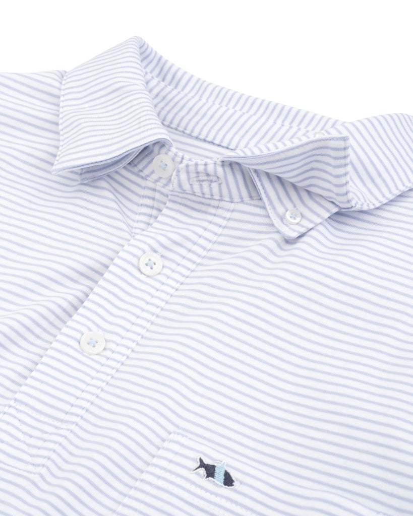 Fish Hippie Pamlico Stripe Polo