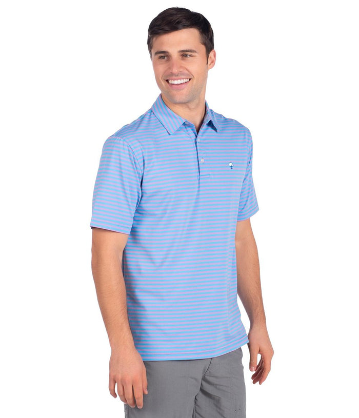 The Southern Shirt Company Perdido Stripe Polo- Man O War