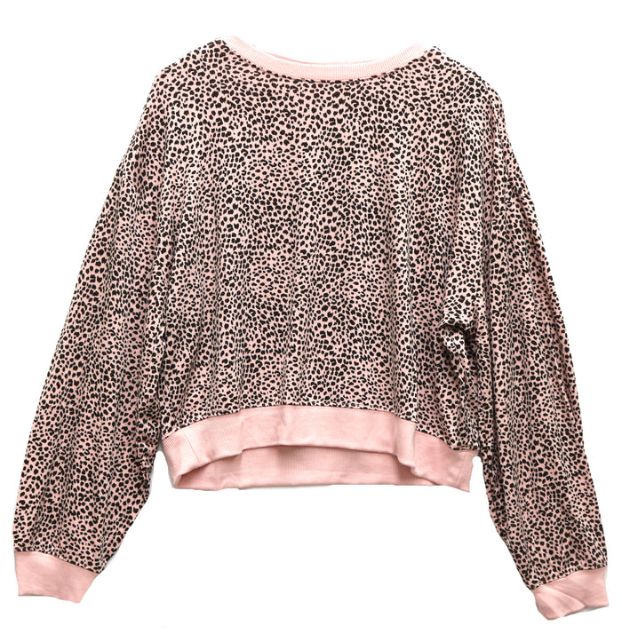 Z Supply Mini Leopard Crew Pullover- ZT201129