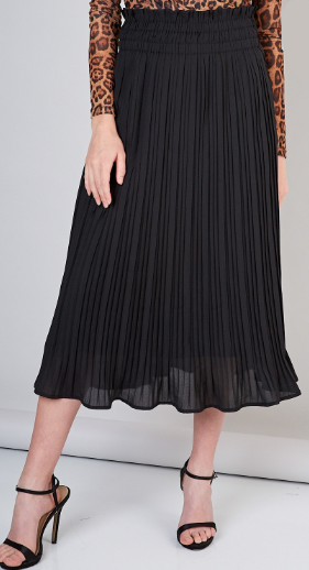 Pleats To Meet You Skirt- Black- Y17773