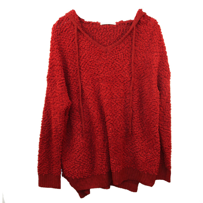 Popcorn Hoodie- Red- B2689-RED