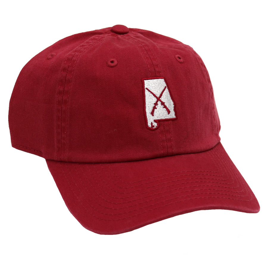Bama Wild Guns Crossing Hat- HC59L GUN RED