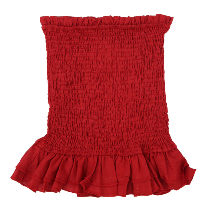 Here For It Skirt- Red- 19-643LSJ/RED
